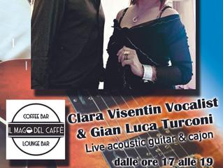 Domenica 24 Febbraio ore 17,00 Live acustico con Clara e Gian Luca al MAGO DEL CAFFè - SARONNO