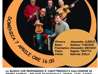 Domenica 7 Aprile ore 16 Grande Concerto World Music a Cinisello Balsamo (MI)