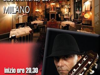 Questa sera al Ristorante Valentino Vintage di Milano - G.Luca Turconi Live Guitar Music
