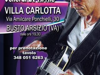 Cena in giardino con Musica dal Vivo a VILLA CARLOTTA a Busto Arsizio con le note di G.Luca Turconi