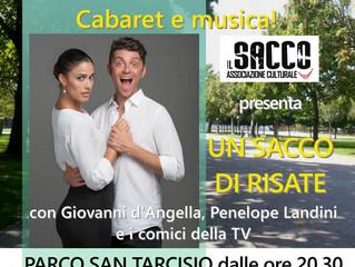 Sabato 14 luglio Cabaret e Musica al Parco San Tarcisio di Paullo (MI) inizio ore 20,30 con i Fatti