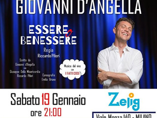 Vi aspettiamo Sabato 19 gennaio allo Zelig di Viale Monza 140 a Milano con lo spettacolo Essere o Be