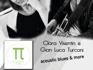 Giovedi 14 Giugno Clara e G.Luca Live acustico al Pigreco Cafè di Saronno