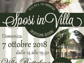 Domenica 7 Ottobre SPOSI IN VILLA a Villa Buttafava Cassano Magnago con GLTMUSIC