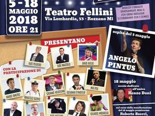 Questa sera al Teatro Fellini di Rozzano grande spettacolo di cabaret - DIVERSAMENTE COMICO con tant