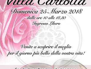 MATRIMONIO in VILLA CARLOTTA - 25/3 Giornata dedicata ai futuri Sposi