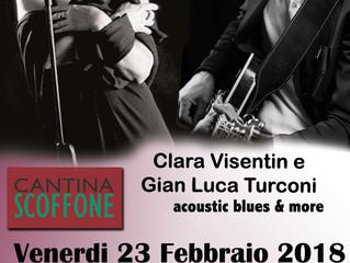 Clara Visentin e Gian Luca Turconi live alla Cantina Scoffone di Milano