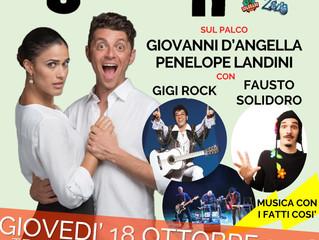 GIOVEDI 18 OTTOBRE al Teatro GIUDITTA PASTA di Saronno - UN SACCO DI RISATE spettacolo comico con ta