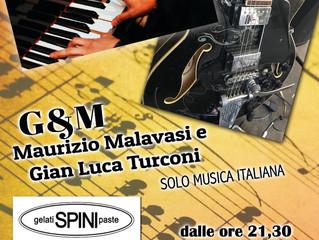 Venerdì 12 luglio alla Gelateria Spini di Robbiate G.Luca e Maurizio solo musica italiana