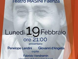 AL TEATRO MASINI di Faenza 15° Festival Alberto Sordi con Penelope Landini, Giovanni d'Angella e
