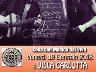 CENA CON MUSICA LIVE in VILLA CARLOTTA - Busto Arsizio (VA)
