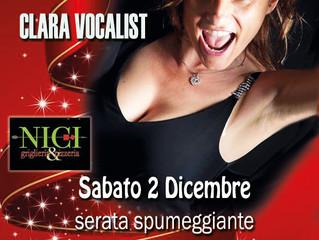 LIVE MUSIC di CLARA VOCALIST alla GRIGLIERIA NICI di Caronno P. (VA)