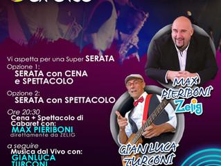 Sabato 27 Giugno allo Spazio Eureka di Sesto San Giovanni una Super Serata Cabaret con Max Pieriboni