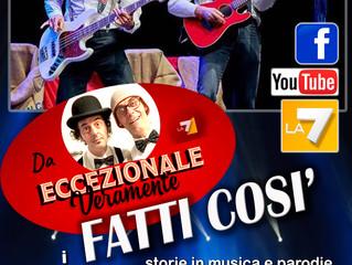 """Questa sera venerdì 26 Ottobre i FATTI COSI' Vi aspettano a """"LA BALERA DELL'ORTICA a Mi"""