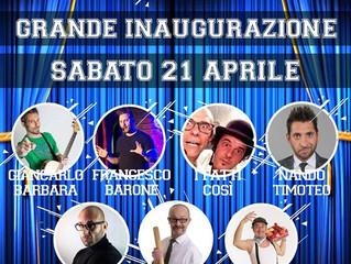 111 COMEDY - Sabato 21 Aprile - Grande Inaugurazione Cabaret con tanti artisti.... di Zelig e Colora