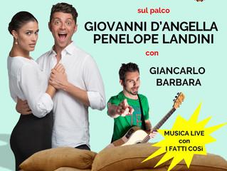 Domenica 2 Settembre ore 22,30 Spettacolo comico in Piazza Crespi a Cerano (NO)