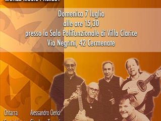 Domenica 7 Luglio - Concerto dei WORLD MUSIC BAND alla Sala Polifunzionale di Villa Clarice a Cermen