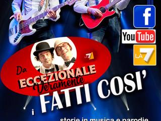 Sabato 16 Marzo all'ANTICA LOCANDA  VISCONTI di Somma Lombardo vi aspettano i FATTI COSI'