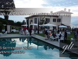 15 Settembre 18 - Evento Privato in Villa Calmia a Galliate L.