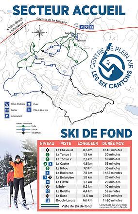 Carte des sentiers de ski de fond