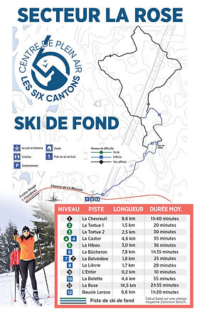 Carte des sentiers de ski de fond 2