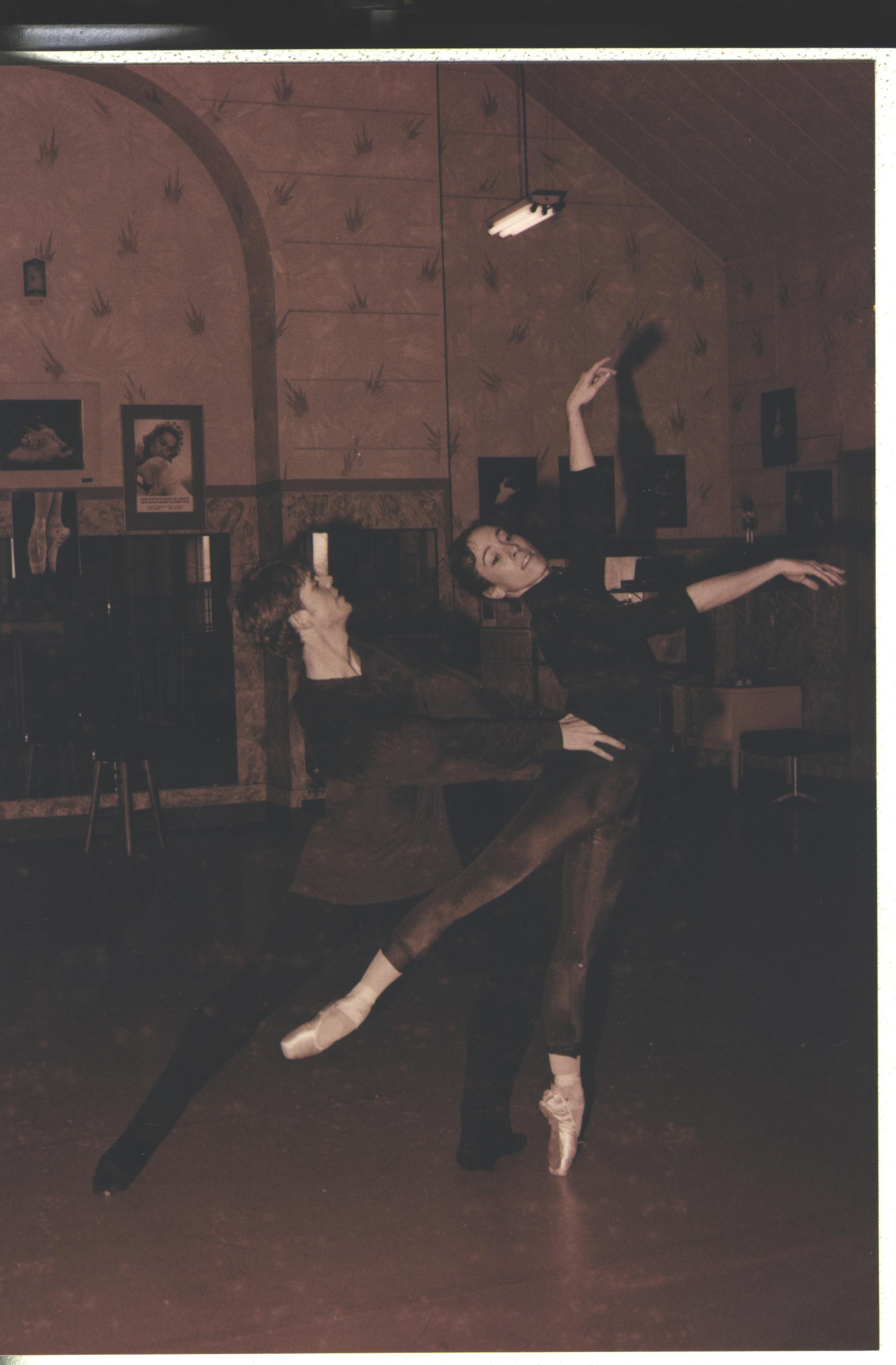 with Dawn in Elgin studio 1996