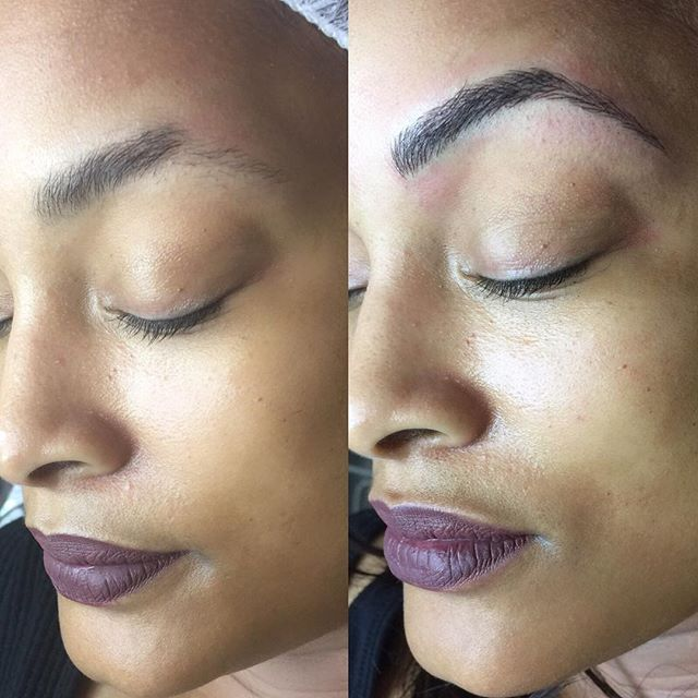 Brows or Bags_ You decide. 😉 Microblading will  provide you with the perfect brow for up to 18 mont