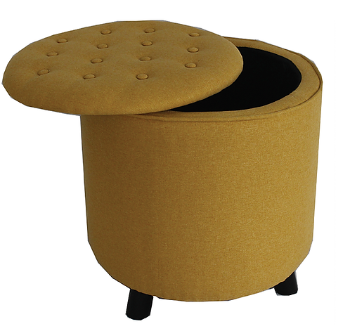 18400 Mustard Footstool