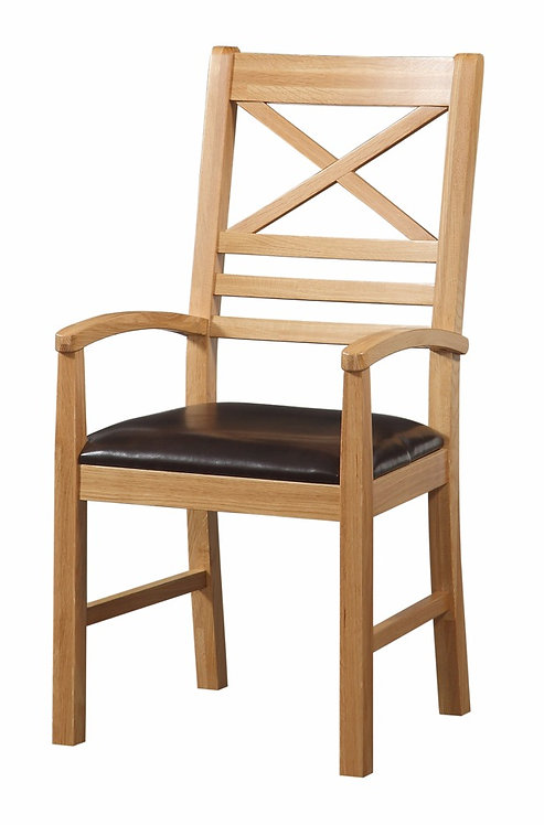 X Back Carver Chair