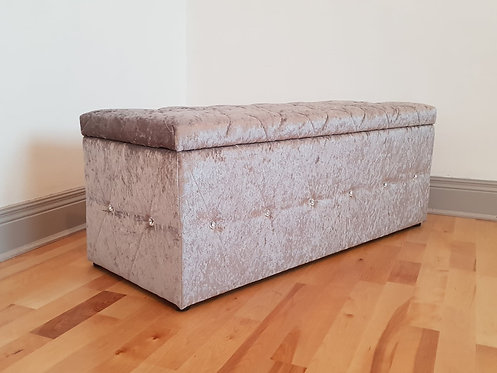 Crushed Silver Blanket Box
