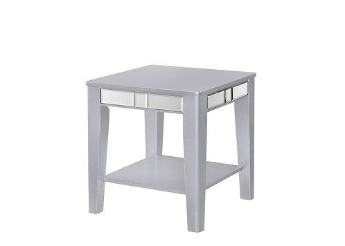 Crystal Silver Side Table