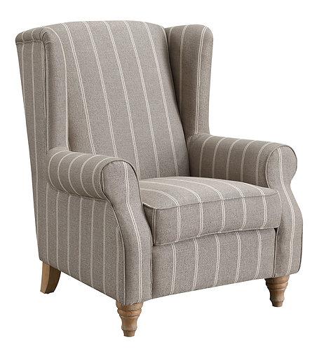 9054 Beige Stripe Armchair