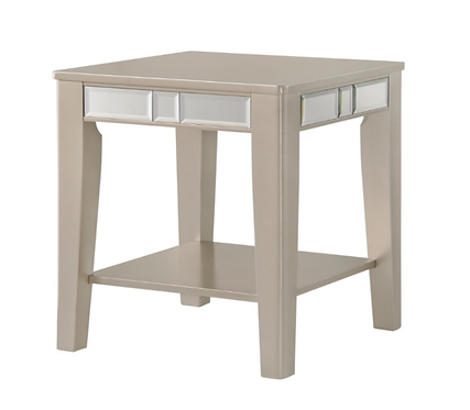 Crystal Rose Gold Side Table