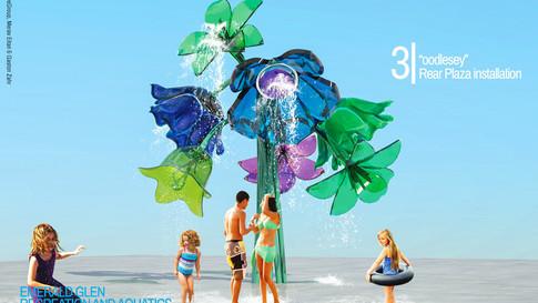 Aquatic Center Water Sculptures