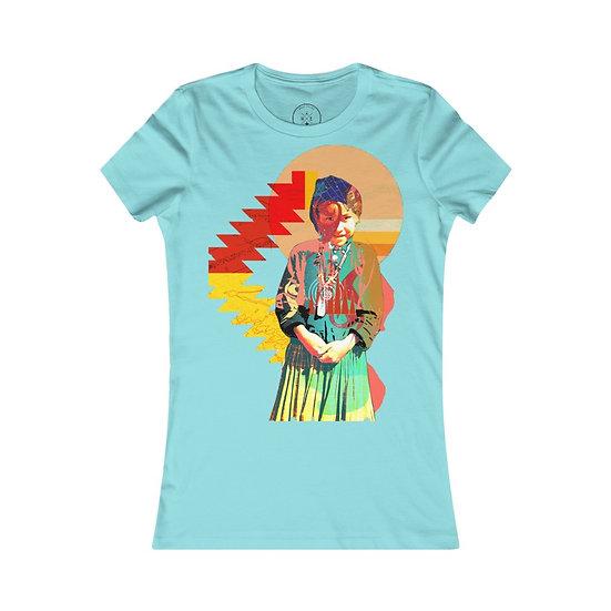 """Navajo Girl Reborn"" Women's Favorite Tee"