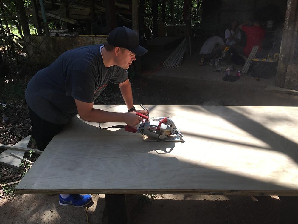 Eric Blaser hard at work