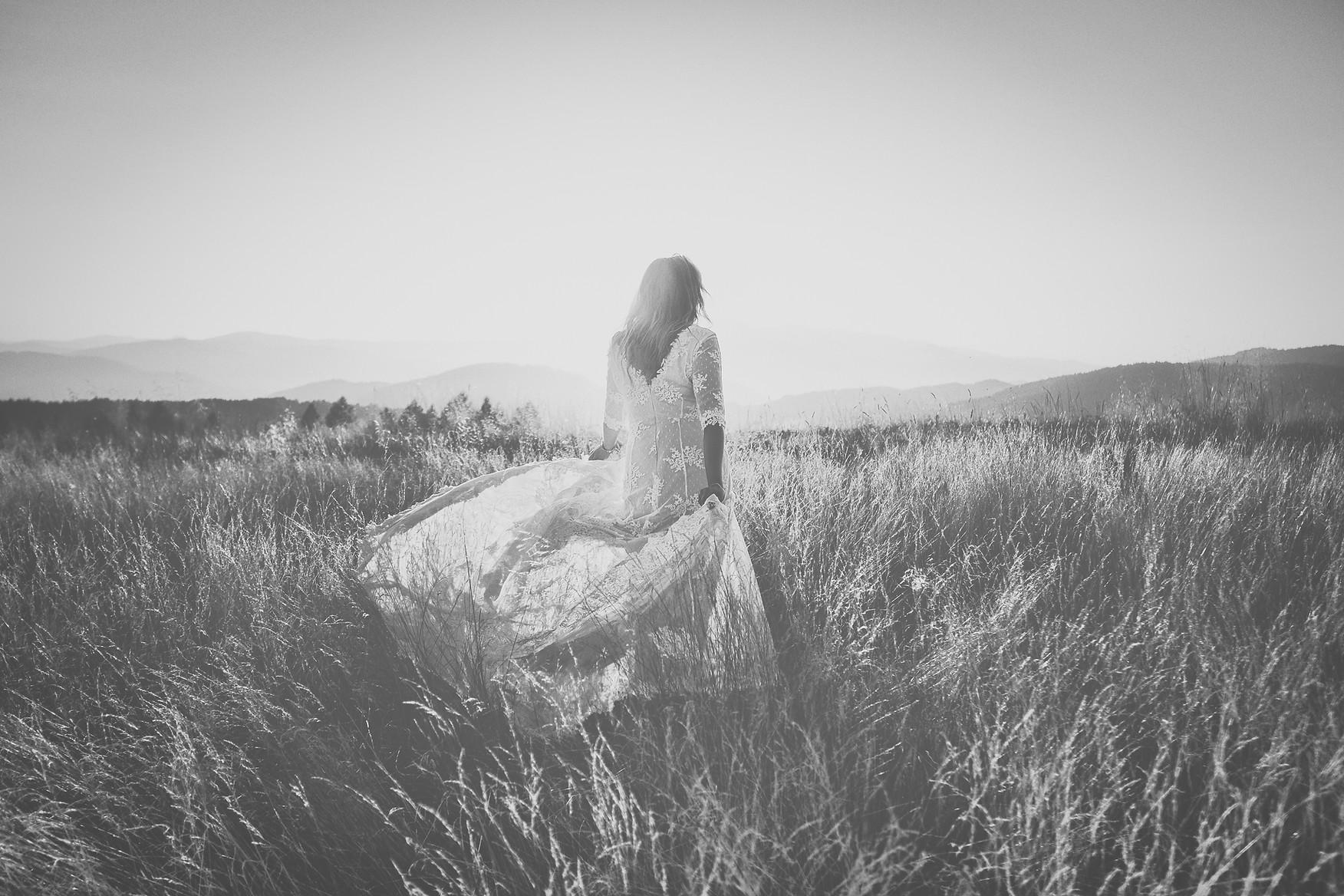 Sesja ślubna plener w górach boho