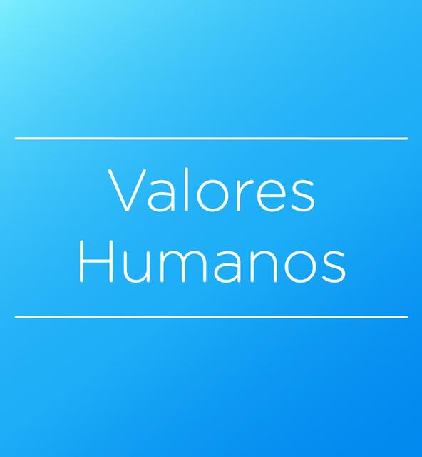Valores Humano