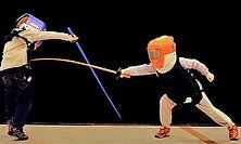 Children fencing in Angels London Fencing Club