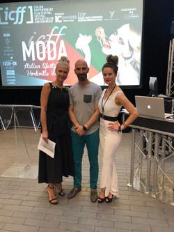 Ivan, Mia and JD at FASH-ON Yorkville Village ICFF Moda 2018