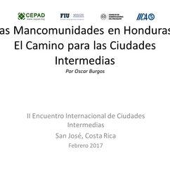 Oscar Burgos_Las Mancomunidades en Honduras