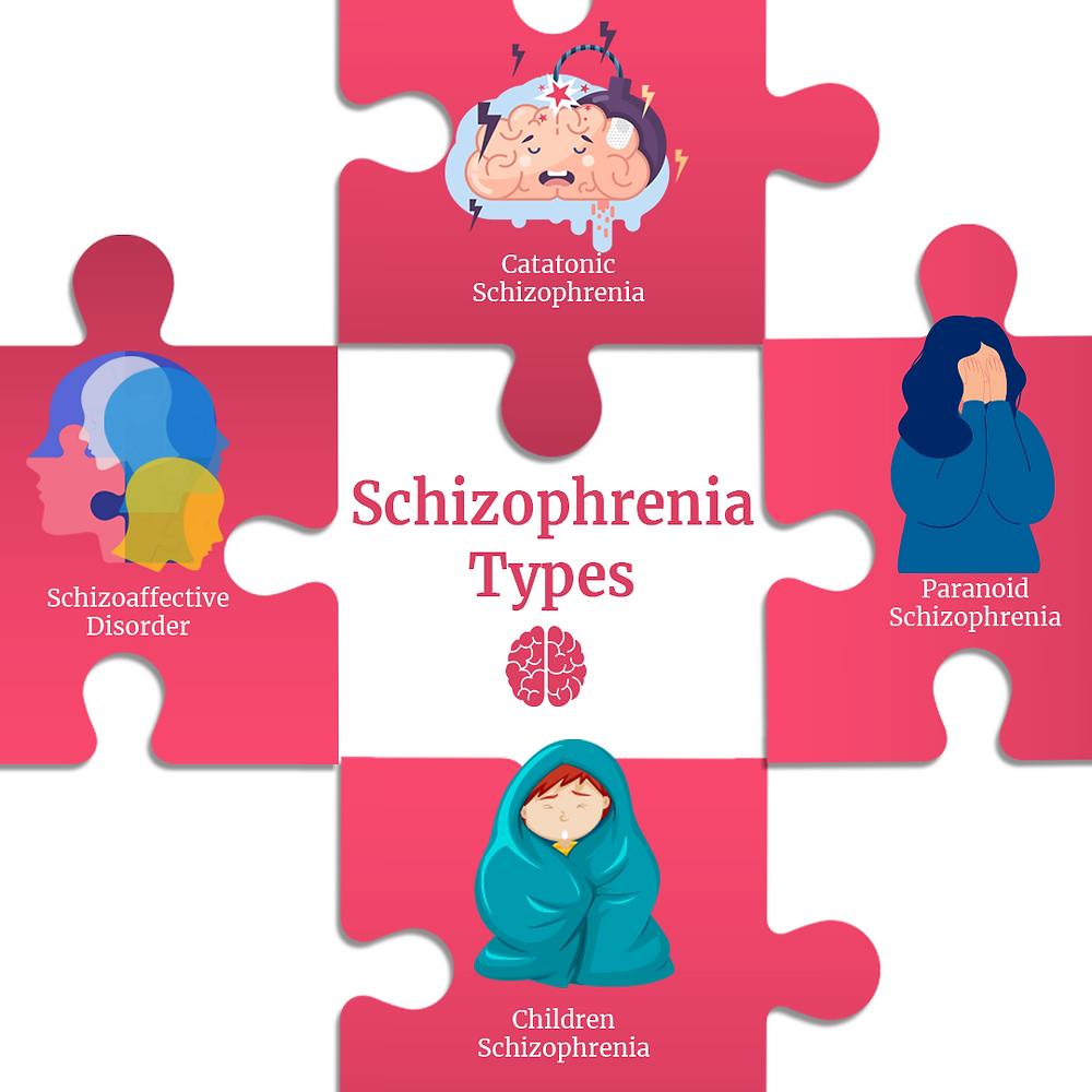 Top 4 Schizophrenia types