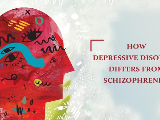 How depressive disorder differs from Schizophrenia?