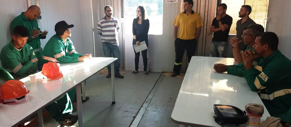 Dinâmica ambiental sensibiliza funcionários de obras na Lagoa da Pampulha