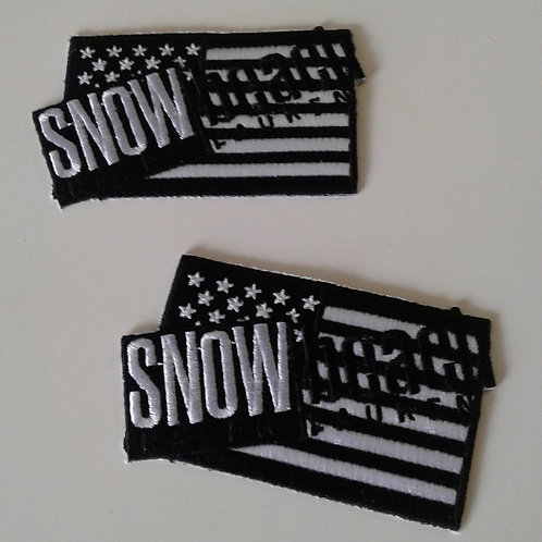 Snow Beach (Black & White) Flag Patch