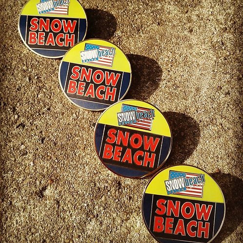Snow Beach Pin - Gold Plated