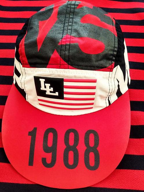 "LO LIFE [AMERICA] (5) PANEL LONG BILL ""HAT"""