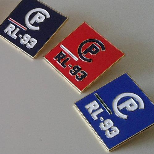 CP RL-93 LAPEL PINS (Navy Blue, Orange and Royal Blue)
