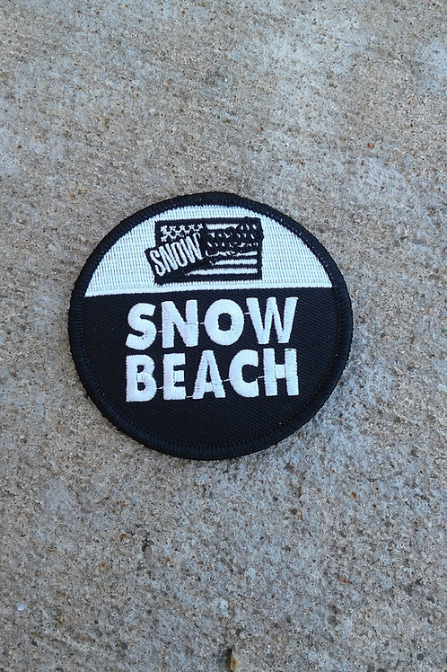 Snow Beach Patch (Black and White Circle)