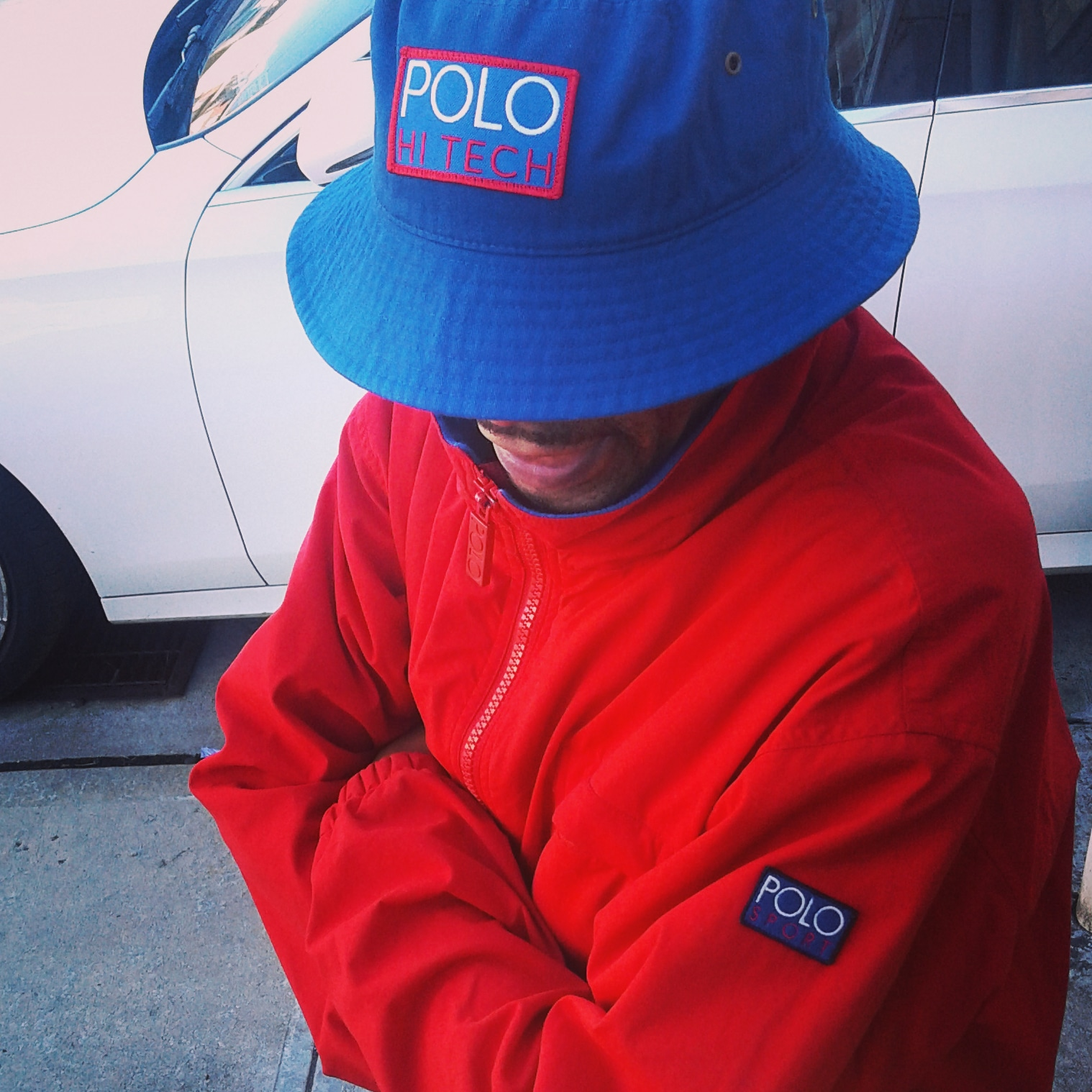 "Polo Hi Tech ""Patch"" Bucket Hat"